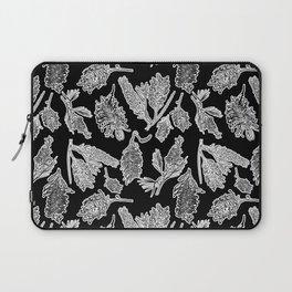 Black and White Australian Native Flowers Laptop Sleeve