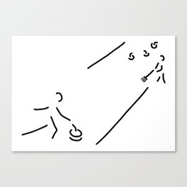 curling curling winter sports Canvas Print