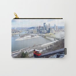Pittsburgh point and incline in winter 22 Carry-All Pouch