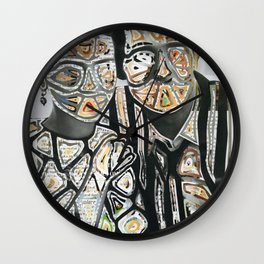 Space Couple Travel Love Wall Clock