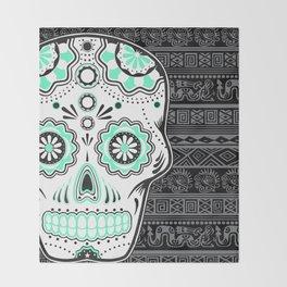 calavera mexicana Throw Blanket