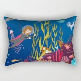 Deep Sea Diving Rectangular Pillow