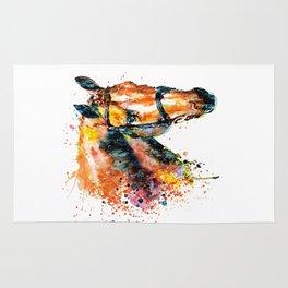 Colorful Horse Head Rug