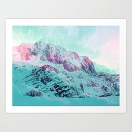 Pastel Magic Mountains Art Print