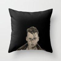 rockabilly Throw Pillows featuring Rockabilly by Brittany Ketcham