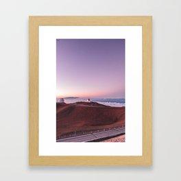 Telescopes on Mauna Kea Summit Framed Art Print