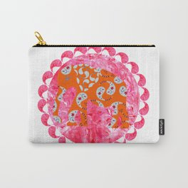 Elephant in pink marble  watercolor background Carry-All Pouch