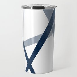 Premiere | Abstract in Blues Travel Mug