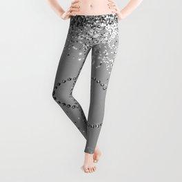 In Love Sparkling Glitter Hearts #3 (Faux Glitter) #silver #decor #art #society6 Leggings
