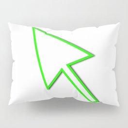 Cursor Arrow Mouse Green Line Pillow Sham