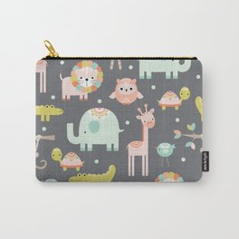 Safari Animals Carry-All Pouch