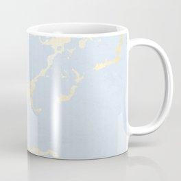 Kintsugi Ceramic Gold on Sky Blue Coffee Mug