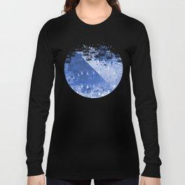 Abstract Blue Rain Drops Design Long Sleeve T-shirt