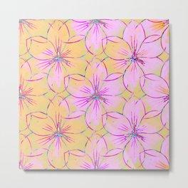 Flower Sketch Metal Print