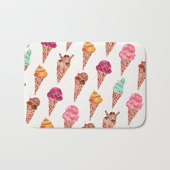 Ice Cream Cones – Rainbow Palette Bath Mat