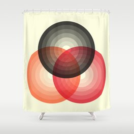 Three colour circles, inspired by Lacouture's Répertoire chromatique Shower Curtain