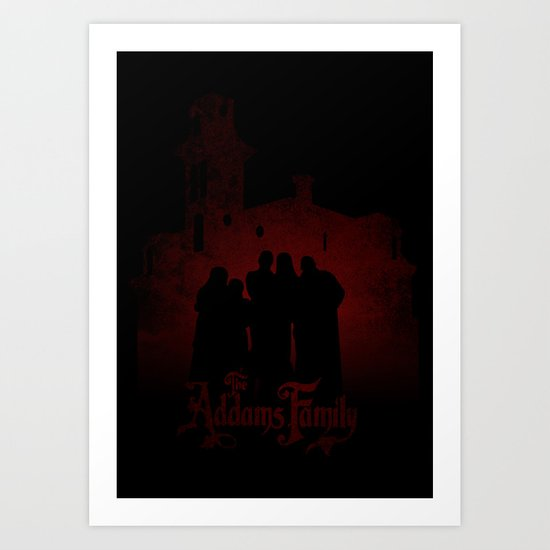 The Addams Family red version Art Print