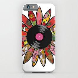 Retro Vinyl Flower iPhone Case