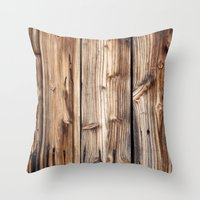 wood Throw Pillows featuring Wood by Patterns and Textures