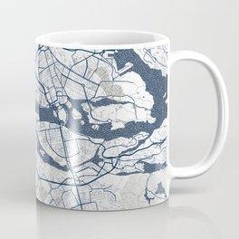 Stockholm City Map of Sweden - Coastal Coffee Mug