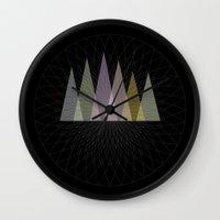 nirvana Wall Clocks featuring Nirvana Mountain by Pia Schneider [atelier COLOUR-VISION]