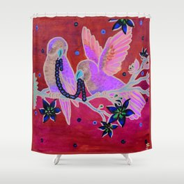 Pair of Parrots Shower Curtain
