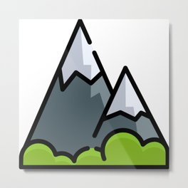 Mountain Travel | Nature Life | Three Nomads Metal Print