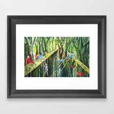 Meeting in the Woods Framed Art Print