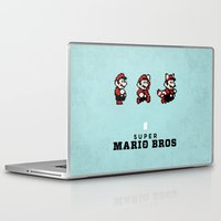 mario bros Laptop & iPad Skins featuring Super Mario Bros 3 by Brandon Riesgo