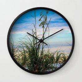 Nature Beach Grass Vertical Print Wall Clock