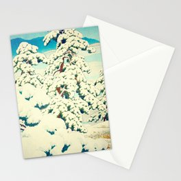 A Morning in the Snow Stationery Cards