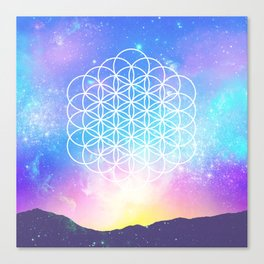 Sacred Geometry (Cosmic Flower) Canvas Print