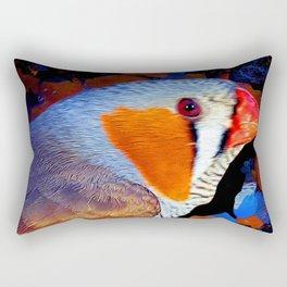 Zebra Finch Painted Rectangular Pillow