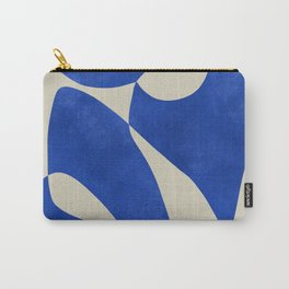 Blue Nude Geometric Modern Print Carry-All Pouch