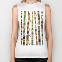 bamboo Biker Tanks featuring BAMBOO by LUCIA BROMBERG