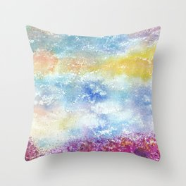 Sky Watercolor Art Illustration Throw Pillow