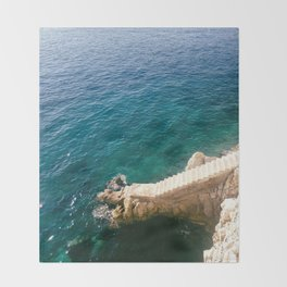 Stairs to the Sea Throw Blanket