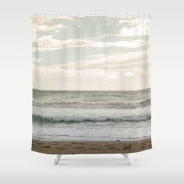 Agios Gordios beach at Corfu island, Greece Shower Curtain