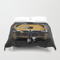 gangster Duvet Covers featuring Gangster Donut by Javier Ramos