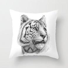 White Tiger G2011-003 Throw Pillow