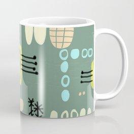 Mid Century Mod Digital Bark cloth Coffee Mug