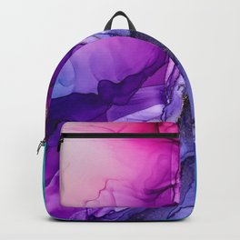 Abstract Vibrant Rainbow Ombre Backpack