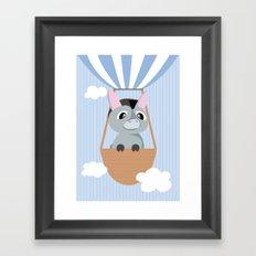 Mobil series hot air balloon donkey Framed Art Print