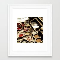 fez Framed Art Prints featuring Tanneries Fez, Morocco by ZenaZero