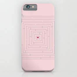 Maze to your heart iPhone Case