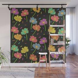 Dark Florals- Multi Coloured Wall Mural