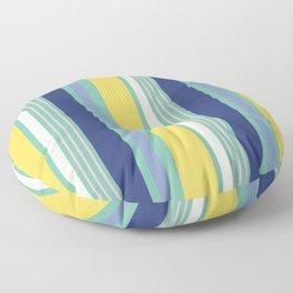 Sunny Beach Print Floor Pillow
