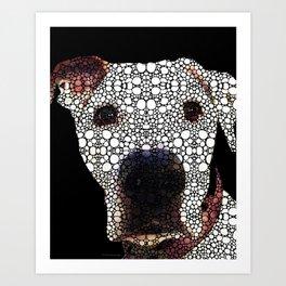 Stone Rock'd Dog 2 by Sharon Cummings Art Print