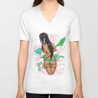 motivation V-neck T-shirts featuring Motivation by ClearRivera