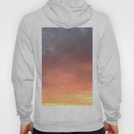 Yellow Red and Gray Sky Hoody